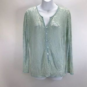 Sigrid Olsen Dream Of The Sea Cardigan Sz M